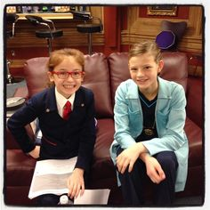 "Peyton Kennedy on Facebook: ""Who's watching the new episode of ODD SQUAD today? #BTS #OlympiasDay #OddSquadPBS #AgentOlympia #DoctorO — with Anna Cathcart."""