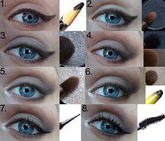 Beauty blog: Fotonávod: stříbrné líčení