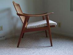 Mid Century Danish Modern Fredrik Kayser Teak Lounge Chair | eBay