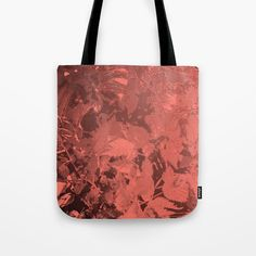 Leaves on shades of coral Tote Bag by mokkihopero . Combine with the Yoga Mat of same design! Pantone's color of year Pantone Color, Reusable Tote Bags, Coral, Shades, Lifestyle, Stuff To Buy, Design, Sunnies