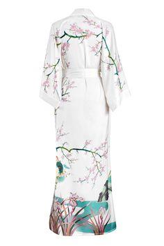 94a2a8ba51 KIM + ONO Spring Floral Long Kimono Robe Floral Kimono