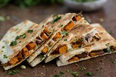 Chipotle Sweet Potato Quesadilla with Cilantro Gremolata   @naturallyella