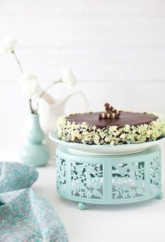 Almond-Chocolate Cake with Chocolate Glaze - Queen of Sheba Cake at Cooking Melangery