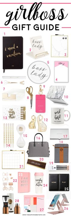 Girlboss Gift Ideas: 28 Items All Lady Bosses Will Love Need a gift for workaholic woman? We've rounded up over 25 awesome girlboss gift ideas all lady bosses will love this holiday season! Boss Lady Gifts, Bosses Day Gifts, Boss Birthday Gift, Birthday Gifts For Teens, Teen Birthday, 15th Birthday, Friend Birthday, Birthday Quotes, Birthday Presents