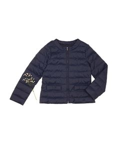 Padded jacket with zip, Dark Blue - Check out the new collection at benetton.com.