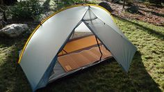 I love the fact that; not only is this tent under three pounds, it can be set up as freestanding, and you enter and exit on the sides rather than by your feet. It doesn't have a separate fly like the similar MSR Carbon Reflex, but then it's a Benjamin less.
