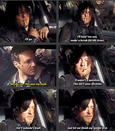 """The Walking Dead 5x16 """"Conquer"""" Daryl Dixon and Aaron"""