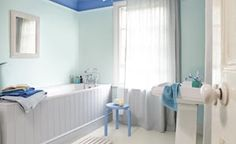 Wall colour Decorating a bathroom on a budget. Image by Dulux.