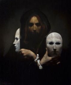 "mrmonst3r: "" Three Masks by Ray Donley """