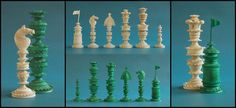 Berhampore Chess set, Kashmir