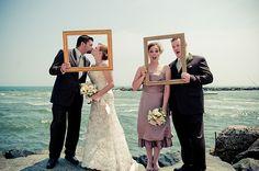 bride&groom  maid of honor&best man