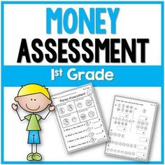 This 1st grade Money Assessment covers money identification, coin values, and counting money to 99 cents. It consists of 15 questions which are easy to administer and easy to grade. This resource includes a Money Pre-Test and a Post-Test. Check out the preview to see the assessment.Check out some of my other productsSubtraction Fact FluencyAddition Fact FluencySubitizing Made EasyFollow meFollow me on Teachers Pay Teachers.Click on the green star *Follow my blog for teaching resourcesFollow…