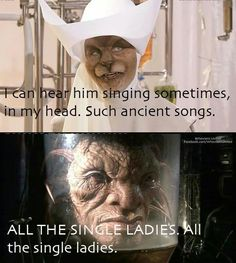 The face of boe. It's funny because I just picture jack Harkness singing it