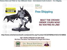 Dr. Boyd Reviews Announces The Entertainment Earth Our Premier Affiliate.  OVER 9,000+ VISITORS  HUGE discounts to the HOTTEST items, like action figures, plush, and statues from Star Wars, Marvel, DC Comics, and more. With savings you don't want to miss this! For best selection, shop now.  http://www.entertainmentearth.com/prodinfo.asp?number=DC32706R&id=GO-412128922