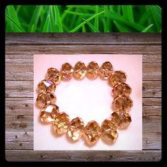 Lite Carmel Lg. Facet Bling Bling Crystal Bracelet Lite Carmel Lg. Facet Bling Bling Crystal Bracelet CScreation Jewelry Bracelets