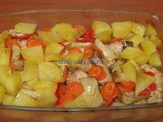 Aripioare cu legume la cuptor