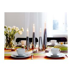 $3.99 RÖNÅS Candlestick IKEA Soft slide protector underneath keeps the candlestick firmly in place and protects the underlying surface.