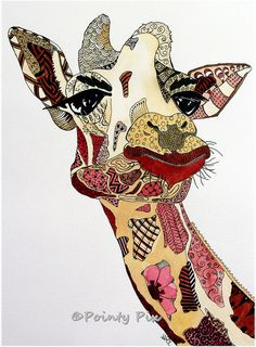 Very cool pic of giraffe: Giraffiti by Nicola McLean  http://art-of-crafts.net