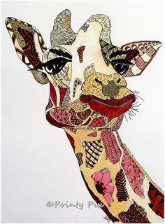 Very cool pic of giraffe: Giraffiti by Nicola McLean  http://art-of-crafts.net