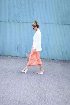 Show off your wedges in a cute maxi dress