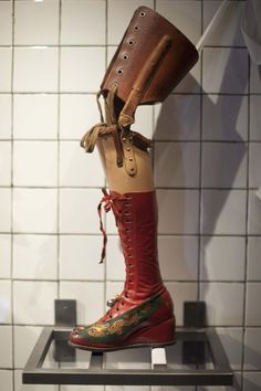 Frida Kahlo's prosthetic leg displayed at the Frida Kahlo museum in Mexico City