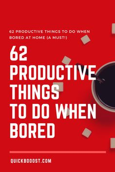 Looking for productive things to do when bored at home? This is what you need! Use these tips, tactics, and ideas to end your boredom, get stuff done, and have a productive day! #productive #productivity #productivethingstodo Time Management Activities, Time Management Printable, Time Management Quotes, Good Time Management, Productive Things To Do, Things To Do When Bored, Things To Do At Home, Productive Day, Getting Things Done
