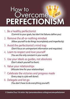 How to Overcome Perfectionism Manifesto