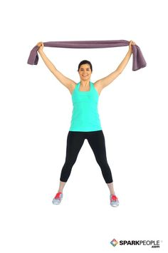 Standing Side Bend with Towel Exercise - helps to improve poor posture.