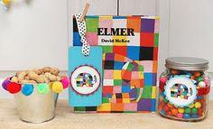 Elmer party ideas - love the gum balls in the jar