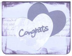Congratulations Purple | Congrats-Wedding Card Purple