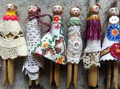 Miss Pritch peg dolls