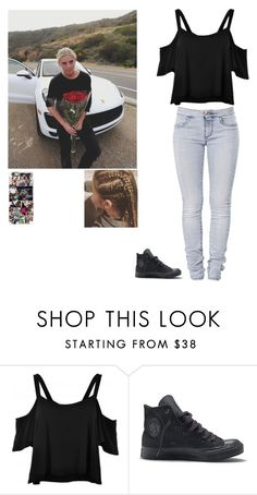 """""""Alex is amaze"""" by rosslynch-1145 ❤ liked on Polyvore featuring 7 For All Mankind and Converse"""