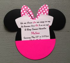 10+Handmade+Minnie+Mouse+Baby+Shower+Pocket+by+GabbyCatCreations,+$20.00