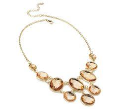 Pale Amber Drop Necklace