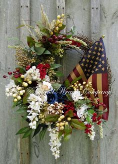 Patriotic Wreath Americana Wreath 4th of July Wreath