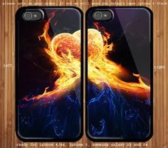 Heart On Fire for couple case iphone