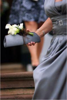 Bridesmaid purse as bouquet