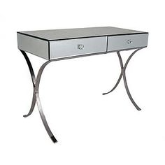 Mirrored Console With Curved Legs - bedroom
