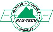 Recycled Asphalt Shingle Technology (RAS-Tech,) located at 50 Pine Road, Brentwood, NH is a GAF and Owens Corning approved shingle recycling site. Ras-Tech has implemented an efficient recycling method for collecting, hauling and processing asphalt tear-off shingles in the Northeast.