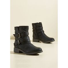 Can't Stomp the Feeling Boot (2.865 RUB) ❤ liked on Polyvore featuring shoes, boots, black, boot - bootie, flat boot, black chunky heel boots, faux leather ankle boots, flat ankle boots, flat boots and black bootie