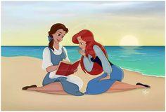 Bella y Ariel. Princesas disney.