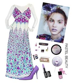 """""""Pastel Beauty"""" by kotnourka ❤ liked on Polyvore featuring beauty, Emilio Pucci, Balenciaga, NYX and Winky Lux"""