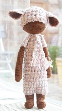 LUPO the lamb made by Karin D. / crochet pattern by lalylala