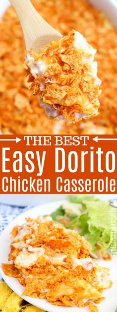 Amazing Dorito Chicken Casserole I love this simple recipe for dinner chickendinner chickencasserole # Shredded Chicken Casserole, Shredded Chicken Recipes, Doritos Chicken Casserole, Simple Chicken Casserole, Dorito Chicken Recipe, Taco Chicken, Buffalo Chicken, Easy Casserole Recipes, Easy Dinner Recipes