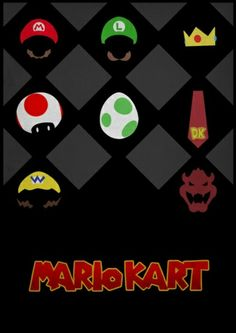 Video Game Posters - Created by Tom McKinnell . Mario Kart, Mario And Luigi, Yoshi, Video Game Posters, Video Game Art, Donkey Kong, Legend Of Zelda, Poster Minimalista, Mario Brothers