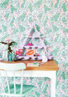 Rice wallpaper Eijffinger | Lovely wallpaper for a fun girlsroom!