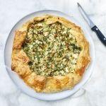 Romaine+sla:+hartige+taart+met+gegrilde+sla