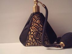 Unusual art deco perfume bottle