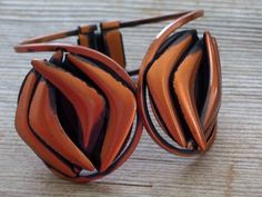 Vintage RAME' Copper Modernist Hinged Clamper by TheCopperCat