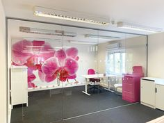 From Glass At Work: Inline Frameless Glass Partition with Single Frameless Glass Door for Access Care Management in Andover, Hampshire. Glass Office Partitions, Glass Partition, Breakout Area, Safety Glass, Ceiling Height, Andover Hampshire, Working Area, Glass Panels, Glass Door